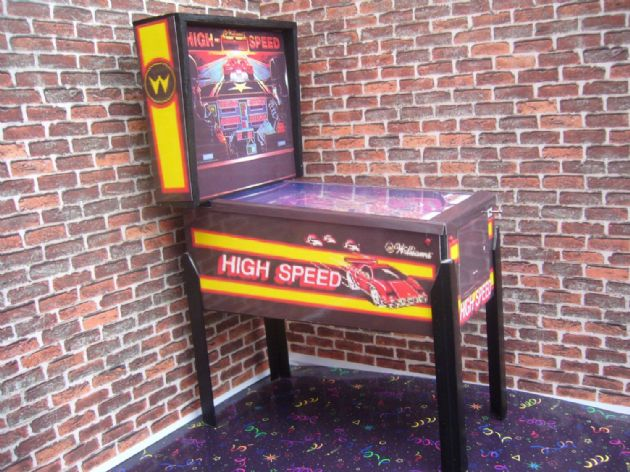 High Speed 1/12th Scale Miniature Pinball Table Model